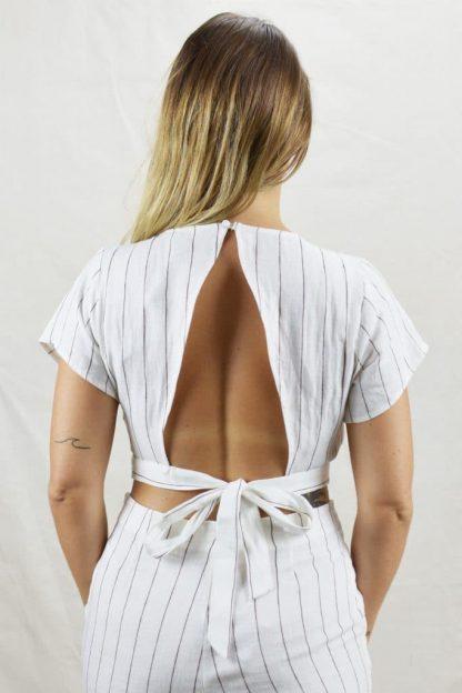 Crop Style Linen Tops