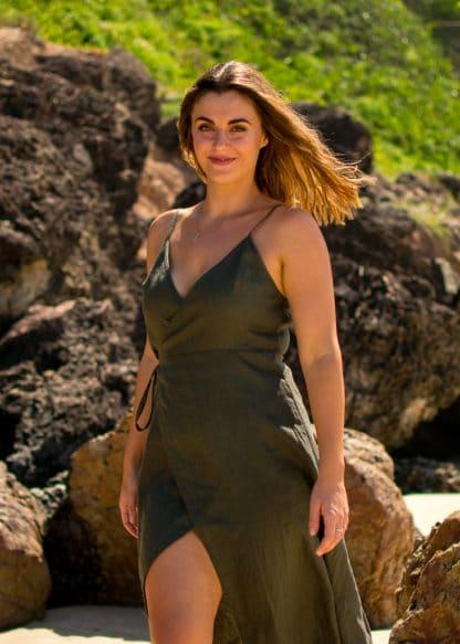Jazmin Wrap Linen Dress