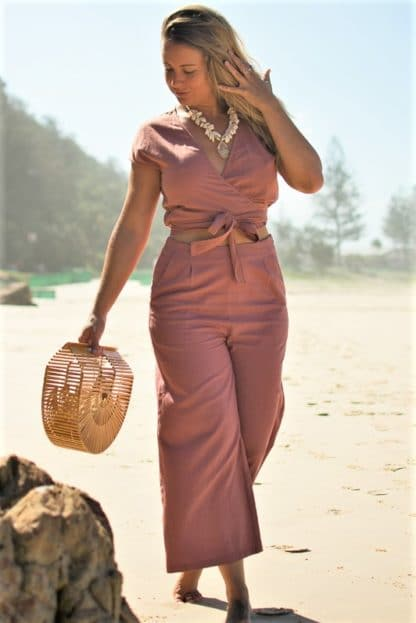 Liza Two Piece Linen Pants and Linen Top