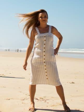 Eva Midi Linen Dress in 100% Premium Linen