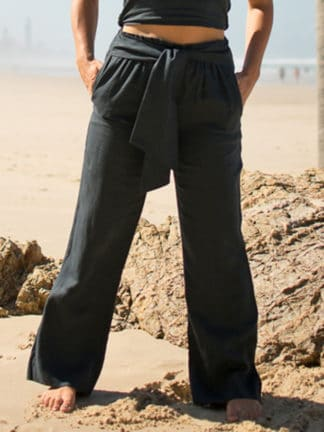 Midnight Linen Pants