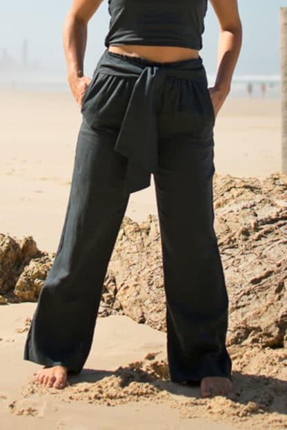 Midnight Linen Pants