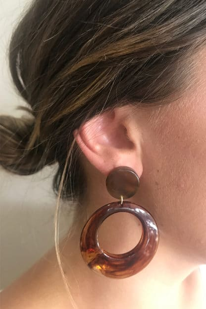 Amberesque Circle Earring