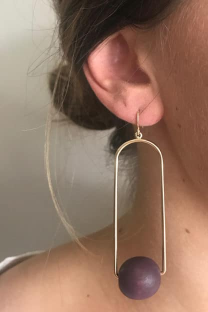 Ball in The Loop Earring
