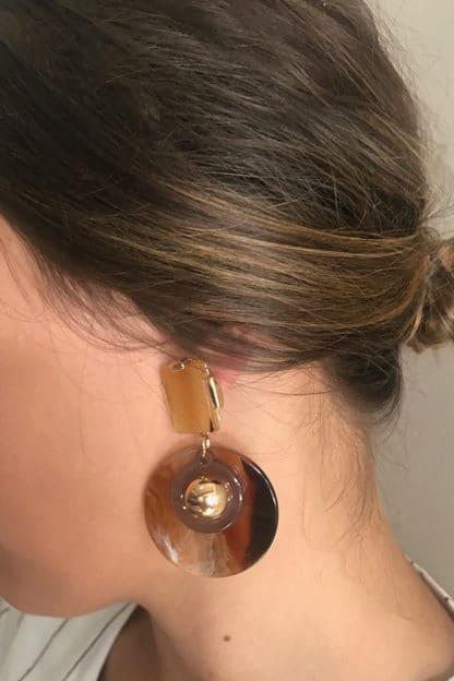 Gold-N-Amber Earring