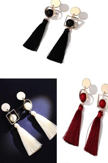 Gold N Tassel Earrings