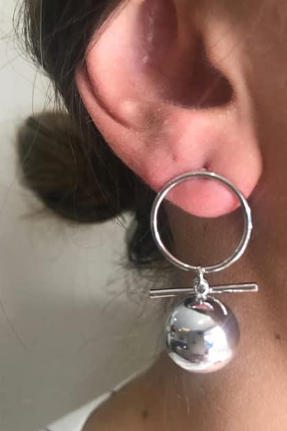 Silver Halo Earring