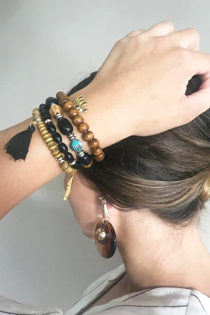 Tribal charm bracelet
