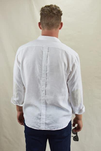 Signature 100% Linen Mens Shirt Rear View