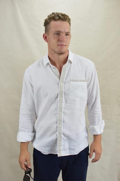 Stylish 100% Linen Shirt