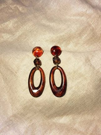 Amberesque Oval Drop Earrings