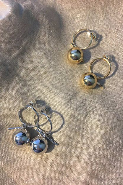 Gold and Silver Halo Earring