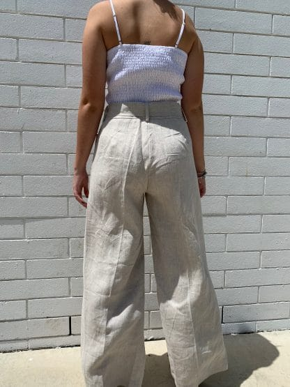 Harlow Linen Pants Back view