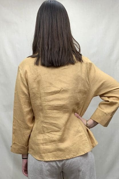 Kamili Linen Shirt Womens Rear View