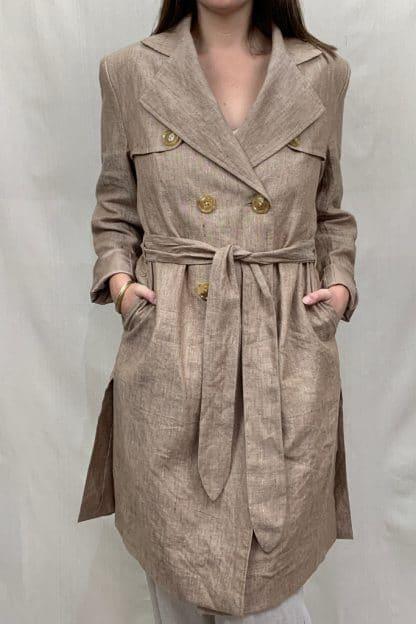 La Linen Manteau Linen Coat