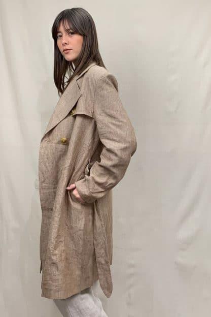 Manteau Linen Coat Womens Side View