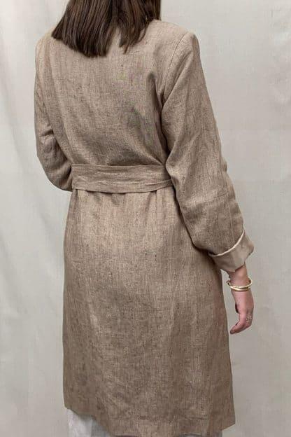 Manteau Linen Coat Rear View