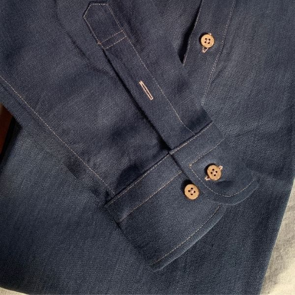 Cuffs and shirt length is important design detail in mens linen shirts.